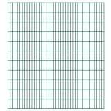 vidaXL Panneaux de clôture 2D de jardin 2008 x 2230 mm 16 m Vert