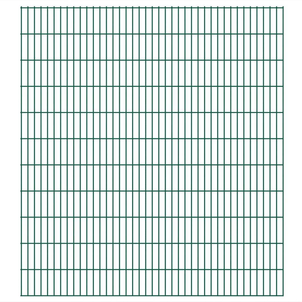 vidaXL Dubbelstaafmatten 2,008x2,23 m 28 m (totale lengte) groen