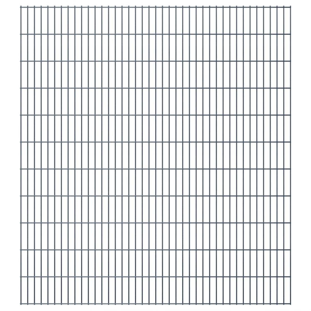 vidaXL 2D zahradní plotové dílce 2008x2230 mm 34 m šedé