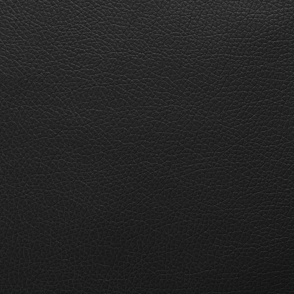 vidaXL Material din piele artificială. 1,4 x 4 m, negru imagine vidaxl.ro