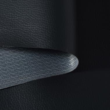 vidaXL Kunstleder Meterware 1,4x18 m Schwarz[2/2]