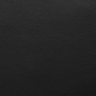 vidaXL Dirbtinė oda, 1,4x36 m, juoda[1/2]
