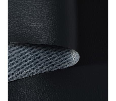 vidaXL Dirbtinė oda, 1,4x36 m, juoda[2/2]