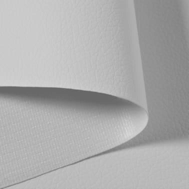 vidaXL Umelá koža metráž, 1.4 x 18 m, biela[2/2]