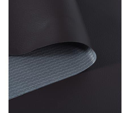 vidaXL Tissu en cuir artificiel 1,4 x 18 m Marron[2/2]