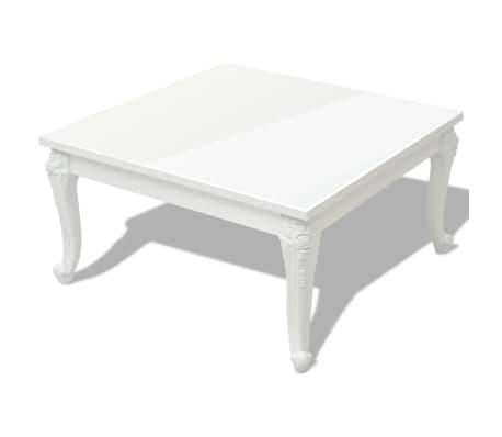 "vidaXL Coffee Table 31.5""x31.5""x16.5"" High Gloss White"