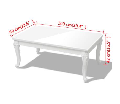 vidaxl couchtisch 100x60x42 cm hochglanz wei g nstig kaufen. Black Bedroom Furniture Sets. Home Design Ideas