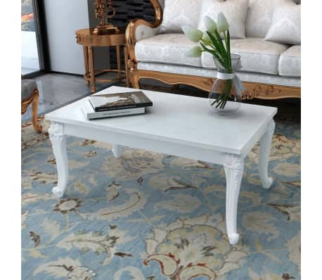 60 Cm Blanc 100 Vidaxl 42 X Laquée Table Basse w0OmNv8n