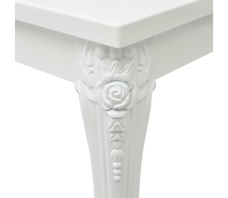 vidaXL Kavos staliukas, 120x70x42 cm, labai blizgus, baltas[4/5]