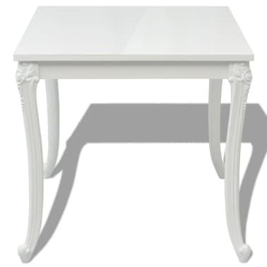 """vidaXL Dining Table 31.5""""x31.5""""x30"""" High Gloss White[3/5]"""