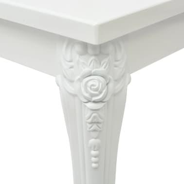 """vidaXL Dining Table 31.5""""x31.5""""x30"""" High Gloss White[4/5]"""