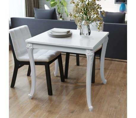 Vidaxl tavolo da pranzo 80x80x76 cm alto bianco lucido - Tavolo bianco lucido ...