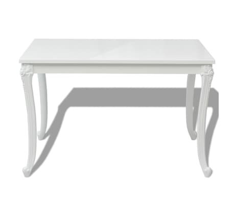 "vidaXL Dining Table 45.7""x26""x30"" High Gloss White[3/5]"