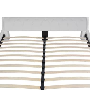 vidaXL Cadre de lit Cuir synthétique 160 x 200 cm Blanc[5/7]
