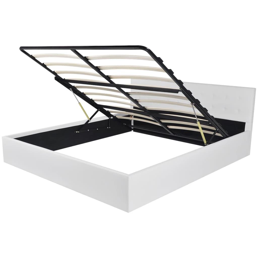 vidaXL Πλαίσιο Κρεβατιού με Μηχανισμό Ανύψωσης Λευκό 160 x 200 εκ.