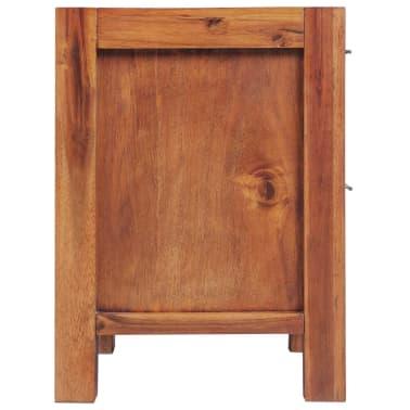 """vidaXL Bedside Cabinet Solid Acacia Wood Brown 17.7""""x16.8""""x22.8""""[3/6]"""