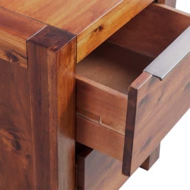 """vidaXL Bedside Cabinet Solid Acacia Wood Brown 17.7""""x16.8""""x22.8""""[5/6]"""