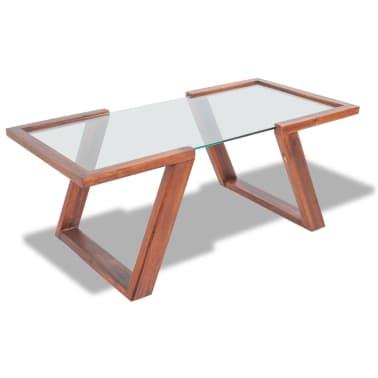 vidaXL Kavos staliukas, masyvi akacijos mediena, 100x50x40 cm[1/6]