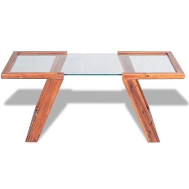 vidaXL Kavos staliukas, masyvi akacijos mediena, 100x50x40 cm[2/6]