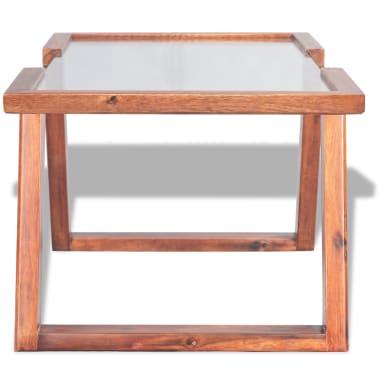 vidaXL Kavos staliukas, masyvi akacijos mediena, 100x50x40 cm[3/6]