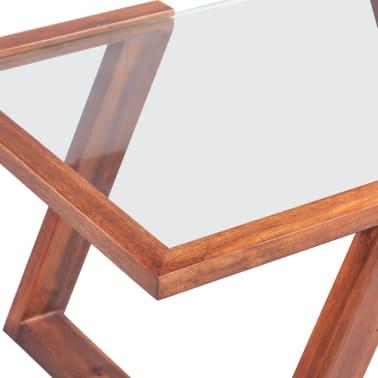 vidaXL Kavos staliukas, masyvi akacijos mediena, 100x50x40 cm[4/6]