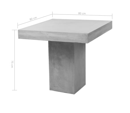 vidaXL Mobilier de salle à dîner d'extérieur 5 pcs Béton[10/11]