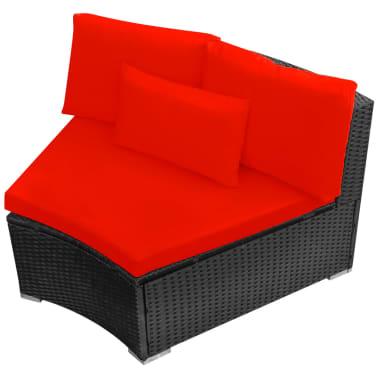 vidaXL 13-delige Loungeset met kussens poly rattan rood[8/12]