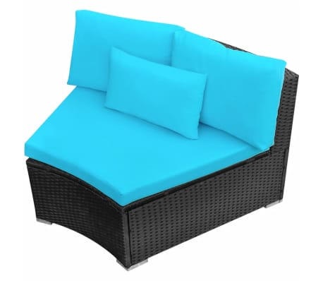 vidaxl gartensofa lounge set mit sonnenliegen poly rattan blau im vidaxl trendshop. Black Bedroom Furniture Sets. Home Design Ideas