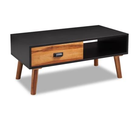 vidaXL Kavos staliukas, 90x50x40 cm, akacijos mediena