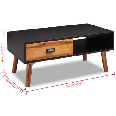vidaXL Kavos staliukas, 90x50x40 cm, akacijos mediena[5/5]