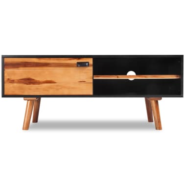 "vidaXL Solid Acacia Wood TV Cabinet 47.2""x13.8""x19.7""[2/5]"