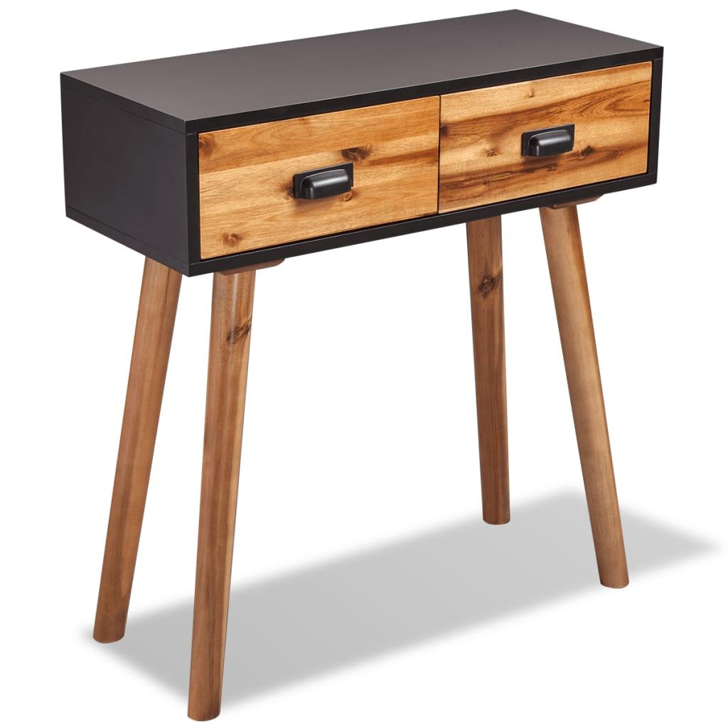 vidaXL Konzolový stolek z masivního akáciového dřeva 70x30x75 cm