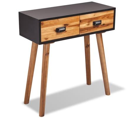 "vidaXL Solid Acacia Wood Console Table 27.6""x11.8""x29.5""[1/5]"