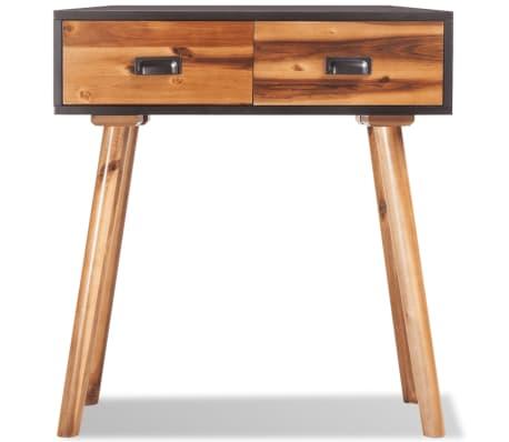 "vidaXL Solid Acacia Wood Console Table 27.6""x11.8""x29.5""[2/5]"