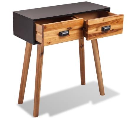 "vidaXL Solid Acacia Wood Console Table 27.6""x11.8""x29.5""[3/5]"