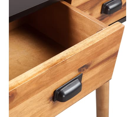"vidaXL Solid Acacia Wood Console Table 27.6""x11.8""x29.5""[4/5]"