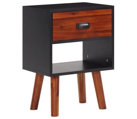 vidaXL Mesita de noche de madera de acacia sólida 40x30x58 cm-picture