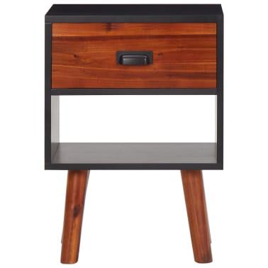 vidaXL naktinis staliukas, akacijos mediena, 40x30x58 cm[2/5]