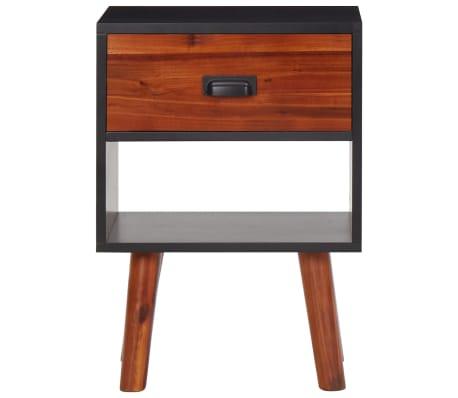 Vidaxl Solid Acacia Wood Bedside Cabinets 2 Pcs 15 7 X11 8 X22