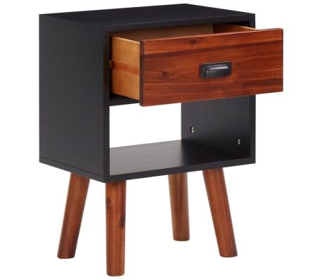 2 vnt., naktiniai staliukai, akacijos mediena, 40x30x58 cm[4/5]