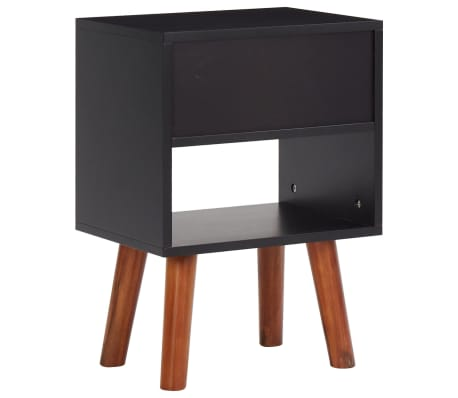 vidaXL Noptiere din lemn de salcâm 2 buc. 40x30x58 cm[5/5]