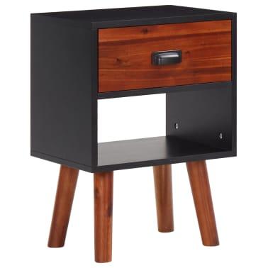 2 vnt., naktiniai staliukai, akacijos mediena, 40x30x58 cm[2/5]