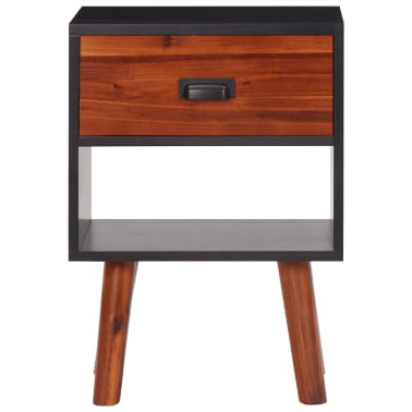 vidaXL Noptiere din lemn de salcâm 2 buc. 40x30x58 cm[3/5]