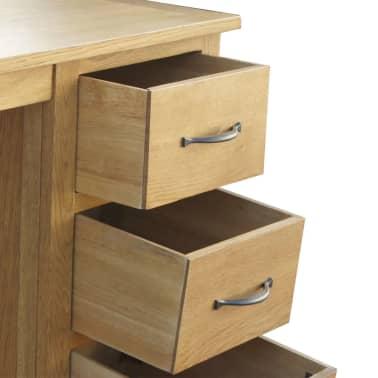 "vidaXL Desk with 3 Drawers Solid Oak Wood 41.7""x15.7""x29.5""[5/6]"