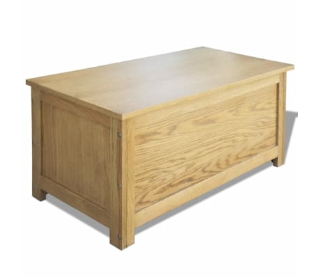 "vidaXL Storage Box Oak 35.4""x17.7""x17.7""[1/6]"