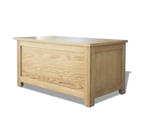 vidaXL Úložný box 90x45x45 cm, dubový masív[4/6]