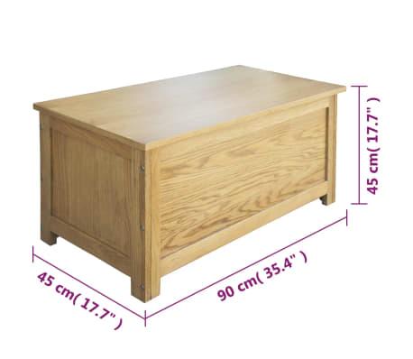 vidaXL Úložný box 90x45x45 cm, dubový masív[6/6]