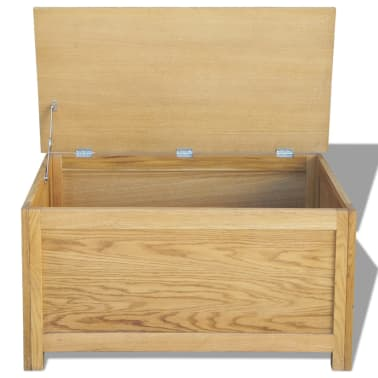 "vidaXL Storage Box Oak 35.4""x17.7""x17.7""[2/6]"