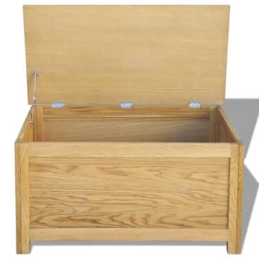 vidaXL Úložný box 90x45x45 cm, dubový masív[2/6]