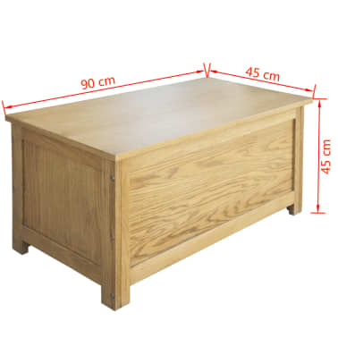 vidaXL uzglabāšanas kaste, 90x45x45 cm, ozolkoks[6/6]